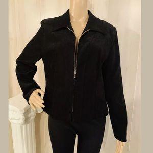 Amanda Smith Petites Black Zipper Blazer